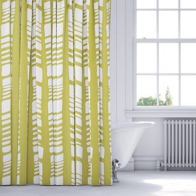 Sahara Shower Curtain Color: Sage