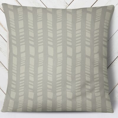 Sahara Indoor/Outdoor Throw Pillow Size: 18 H x 18 W, Color: Gray