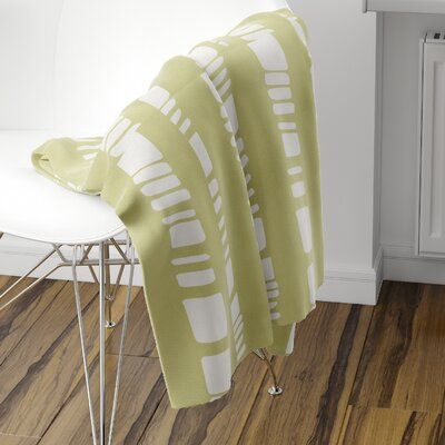 Sahara Fleece Blanket Color: Sage, Size: 60 L x 50 W
