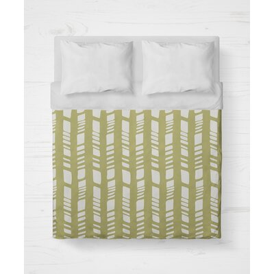Sahara Lightweight Duvet Cover Size: Twin, Color: Sage