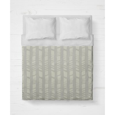 Sahara Lightweight Duvet Cover Size: Queen, Color: Gray
