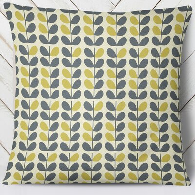 San Lorenzo Throw Pillow Color: Blue/Yellow, Size: 26 H x 26 W
