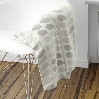San Lorenzo Fleece Blanket Size: 80 L x 60 W, Color: Gray
