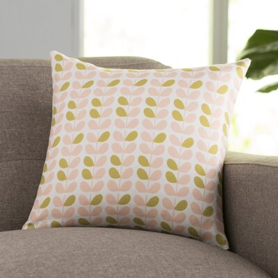 San Lorenzo Throw Pillow Size: 16 H x 16 W, Color: Pink/Sage