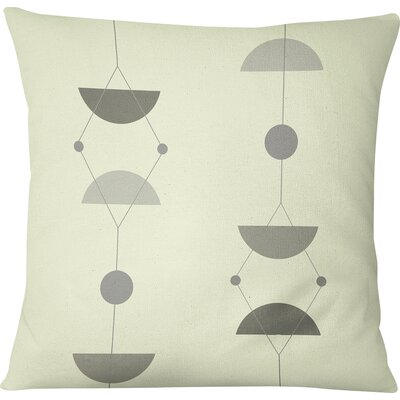 San Martin Outdoor Throw Pillow Size: 18 H x 18 W, Color: Gray/Multi