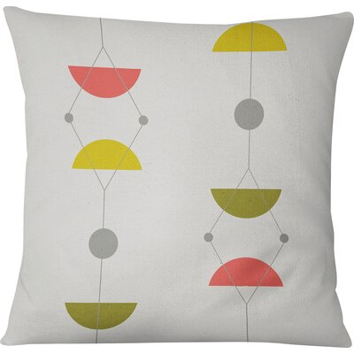 San Martin Outdoor Throw Pillow Size: 16 H x 16 W, Color: Green/Multi