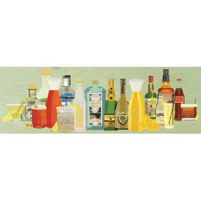 Classic Cocktails Pano Wall Art on Wrapped Canvas Size: 12