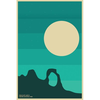 Arches Graphic Art on Wrapped Canvas Size: 12