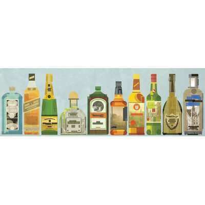 Langley Street Liquor Bottles Pano' Wall Art on Wrapped Canvas