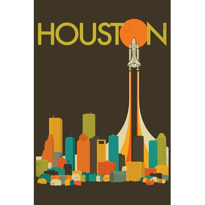 Houston Skyline Graphic Art on Wrapped Canvas Size: 12