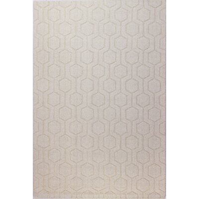 Ogden Hand-Woven Ivory Area Rug Rug Size: 76 x 96