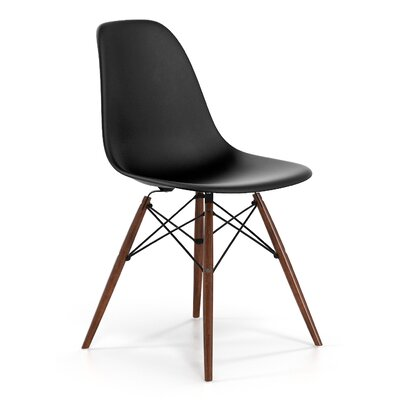 Brook Modern Solid Wood Dining Chair Color: Black Walnut