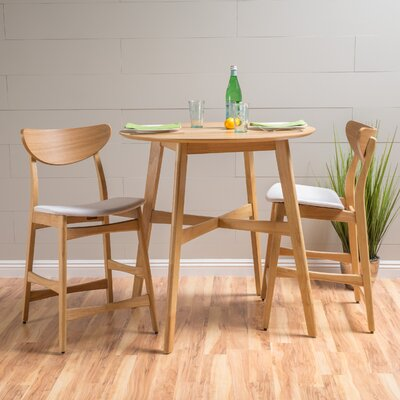 Denver Dining Set Color: Light Beige