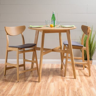Denver Dining Set Color: Dark Grey