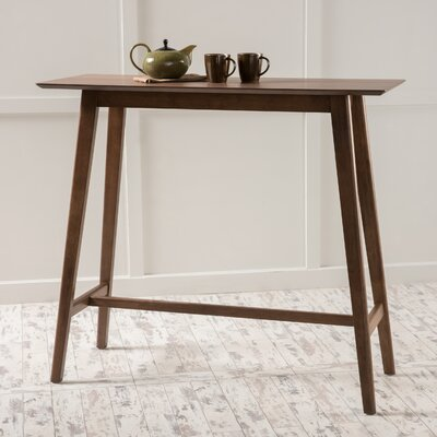 Racavan Wood Bar Table Color: Natural Walnut