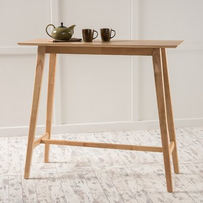 Racavan Wood Bar Table Finish: Natural Oak