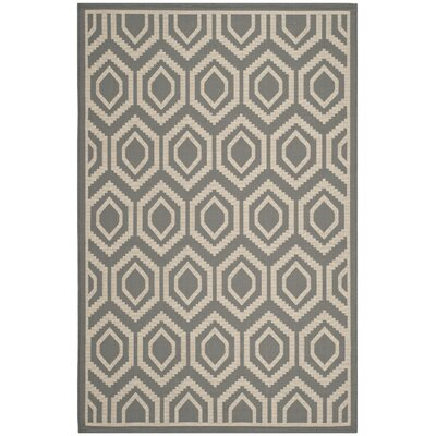 Miami Anthracite / Beige Indoor / Outdoor Area Rug Rug Size: 9 x 12