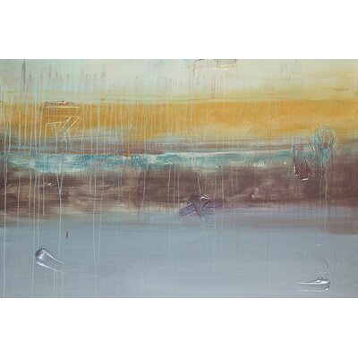 Langley Street Morning Rain Wall Art on Wrapped Canvas