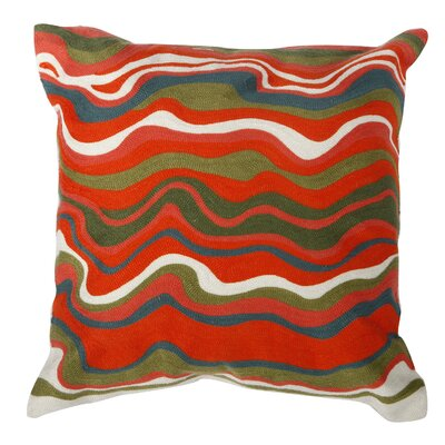 Jerald Embroidered Cotton Throw Pillow