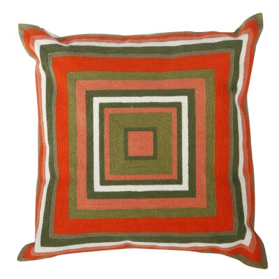 Jed Embroidered Cotton Throw Pillow