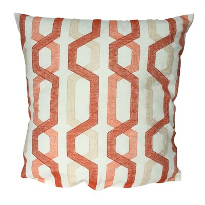 Alphonso Cotton Throw Pillow Color: Coral
