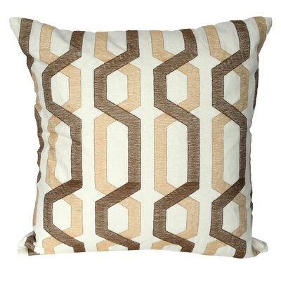Alphonso Cotton Throw Pillow Color: Beige