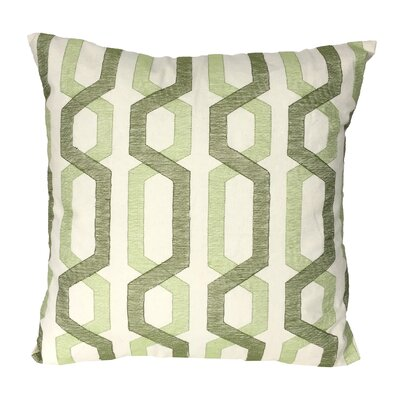 Alphonso Cotton Throw Pillow Color: Green