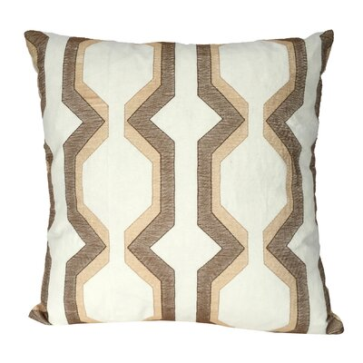 Bennie Cotton Throw Pillow Color: Beige
