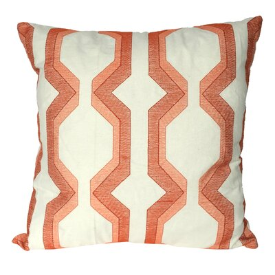 Bennie Cotton Throw Pillow Color: Coral