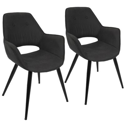 Inver Arm Chair Upholstery: Black