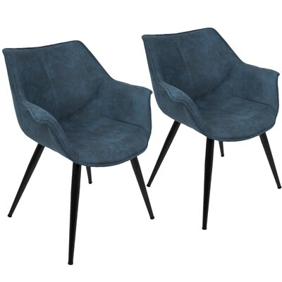Shiloh Arm Chair Upholstery: Blue