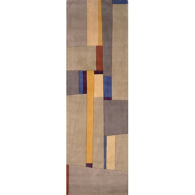 Sunny Springs Hand-Tufted Gray Area Rug Rug Size: Runner 2'6