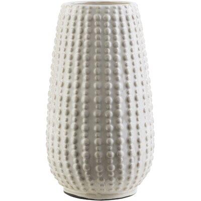 Cylinder Ceramic Highlands Table Vase Color: Ivory, Size: 3.74