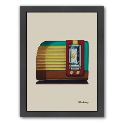 Langley Street Old Fashion Radio Framed Painting Print