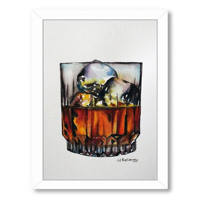 Scotch on the Rocks Framed Painting Print