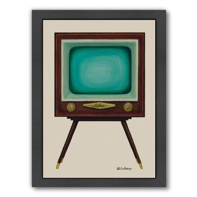 Langley Street TV Set Framed Painting Print