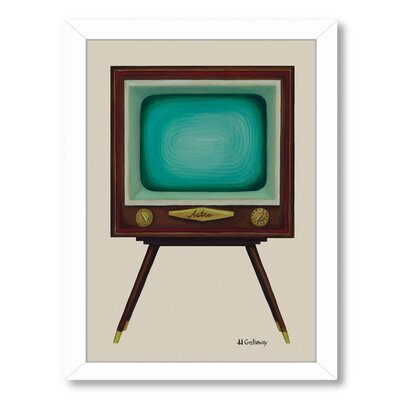 TV Set Framed Painting Print
