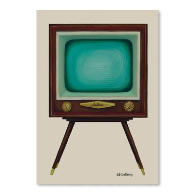 Langley Street TV Set Painting Print