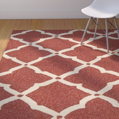 Cayuta Hand-Tufted Red Indoor/Outdoor Area Rug Rug Size: 2'3