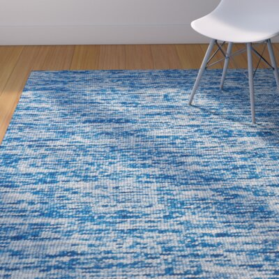 Estio Hand-Tufted Azure Area Rug Rug Size: 8 x 11