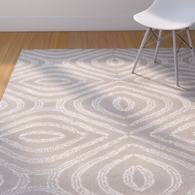Rosa Hand-Tufted Gray Area Rug Rug Size: 5 x 76