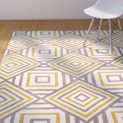 Langley Street Noam Hand-Tufted Beige/Gray/Yellow Area Rug