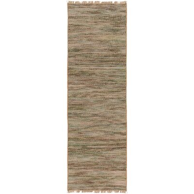 Carlane Hand-Woven Dark Brown Area Rug Rug size: Runner 26 x 8