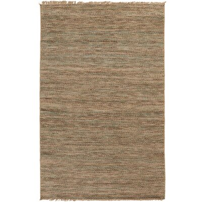 Carlane Hand-Woven Dark Brown Area Rug Rug size: 5' x 7'6
