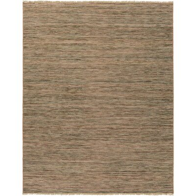 Carlane Hand-Woven Dark Brown Area Rug Rug size: 8 x 10