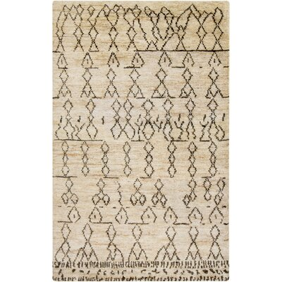 Kennewick Hand-Knotted Camel/Moss Area Rug Rug size: 5' x 8'
