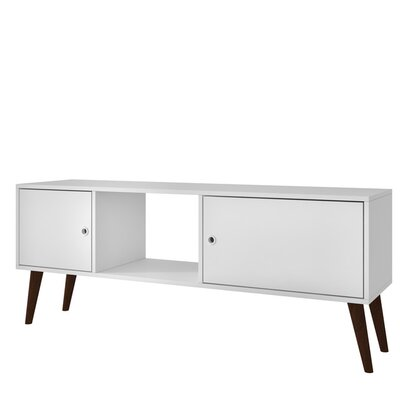 Oxnard TV Stand Color: White
