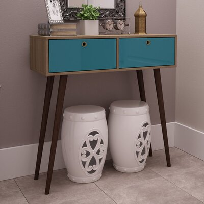 Thierry Console Table Color: Aqua