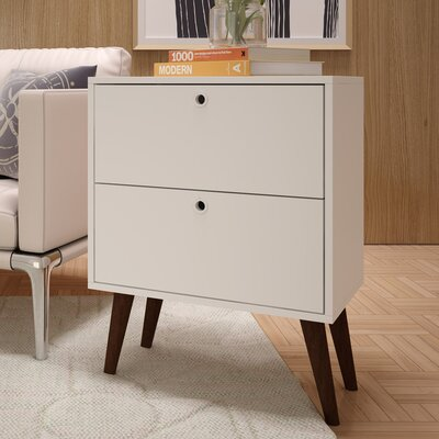 Azalea 2 Drawer Nightstand Color: White