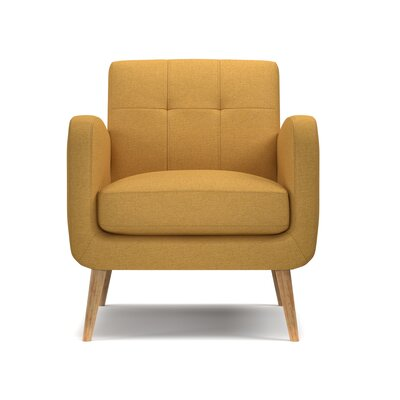 Valmy Armchair Upholstery: Mustard Yellow